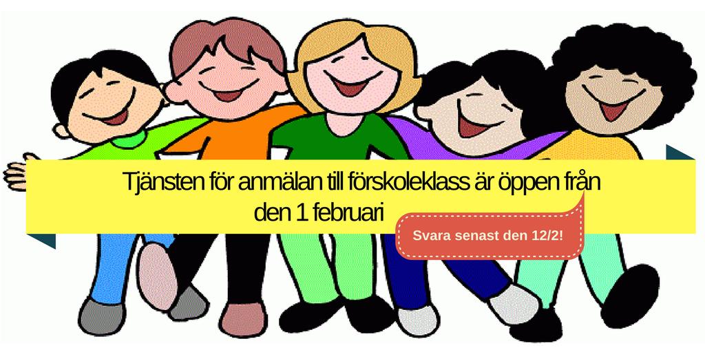 Anmälan till förskoleklass öppnar 1 februari